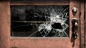 damaged window in property