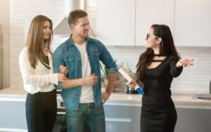 showing the property to potential tenants